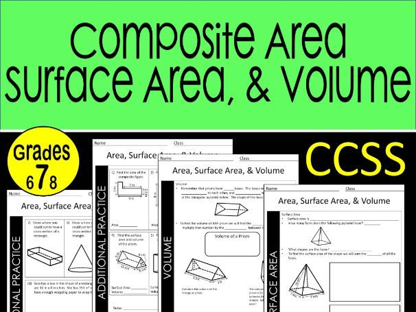 Composite Area, Surface Area, and Volume Guided Notes
