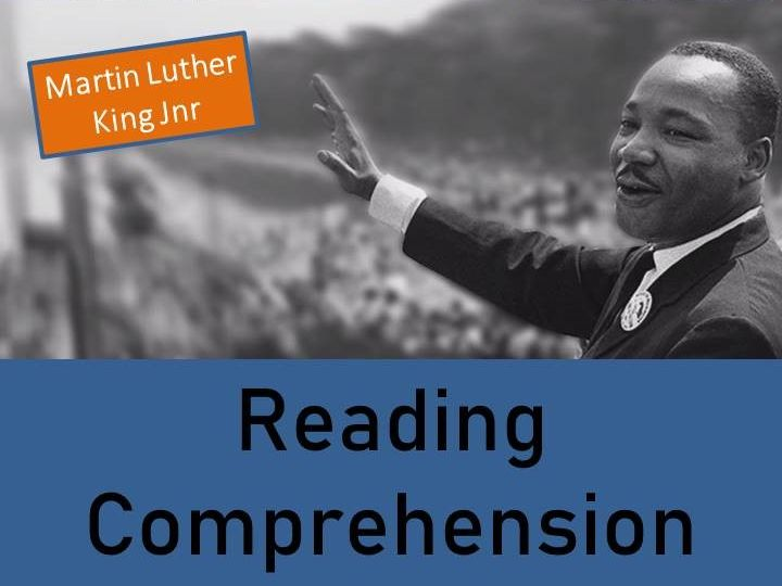 Martin Luther King Jr Reading Comprehension Activity