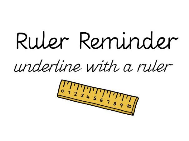 Ruler reminder stickers