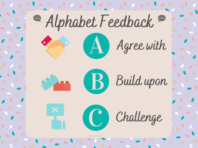 ABC Feedback Alphabet Peer Conversation