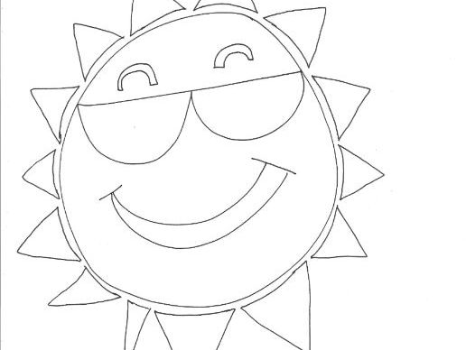 Sun: WEATHER Colouring Page