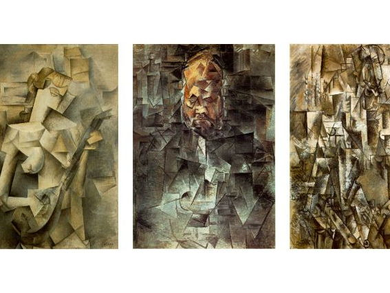 Cubism. Picasso Portrait and Still Life