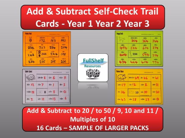 Add / Subtract KS1 Year 1 Year 2 Year 3