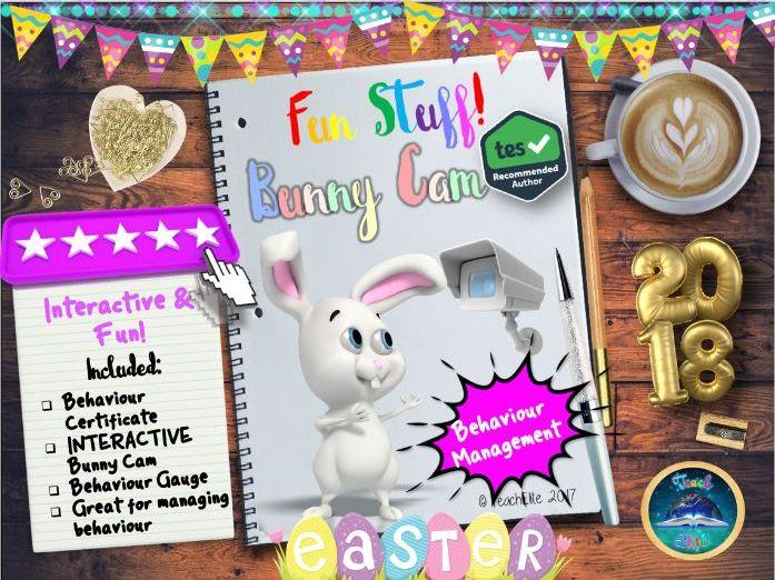 Easter: Easter Bunny Cam -Behaviour Management