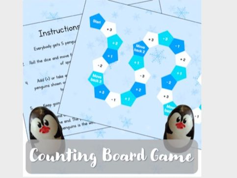 Penguin Board Game (Resource & Instructions)