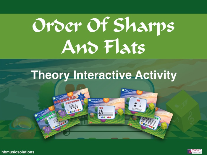 Order Of Sharps And Flats Music Interactive Games Activity