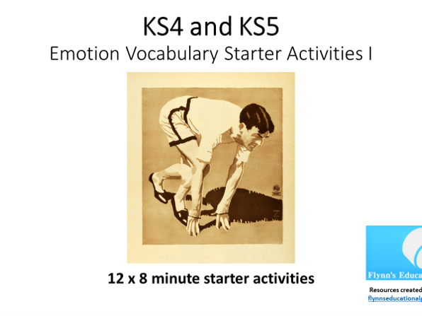 KS4/KS5 Human Emotion Starter Activities: (12x8 minute activities)