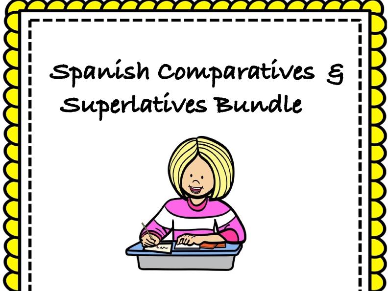 Spanish Comparatives & Superlatives Bundle: TOP 6 Resources @35% off! (Comparativos)