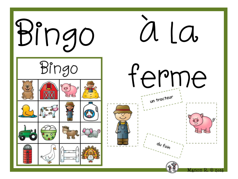 Bingo à la ferme (On the Farm Bingo)
