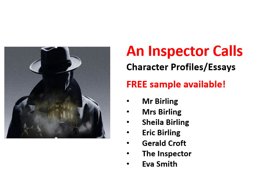An Inspector Calls - All Character Profiles / Essays