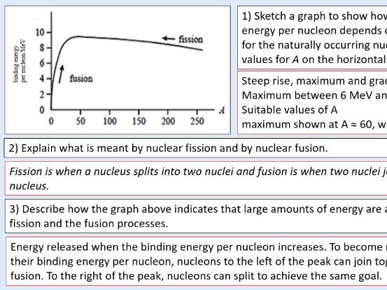 A level Physics (27.3) Fission and fusion (Nuclear energy)