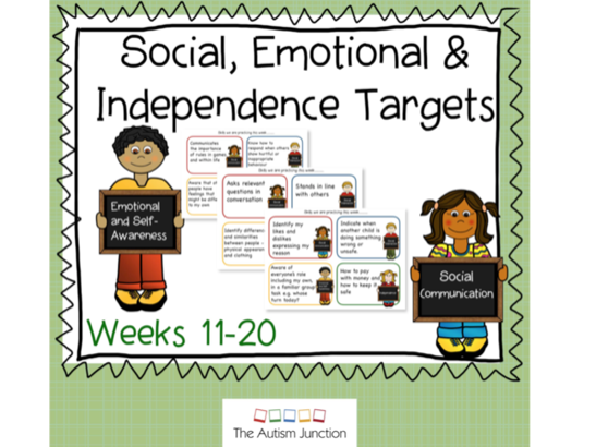 Social, Emotional and Independence Targets weeks 11-20