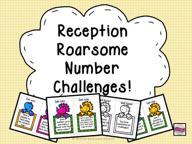 Reception Number ELG Challenge Cards
