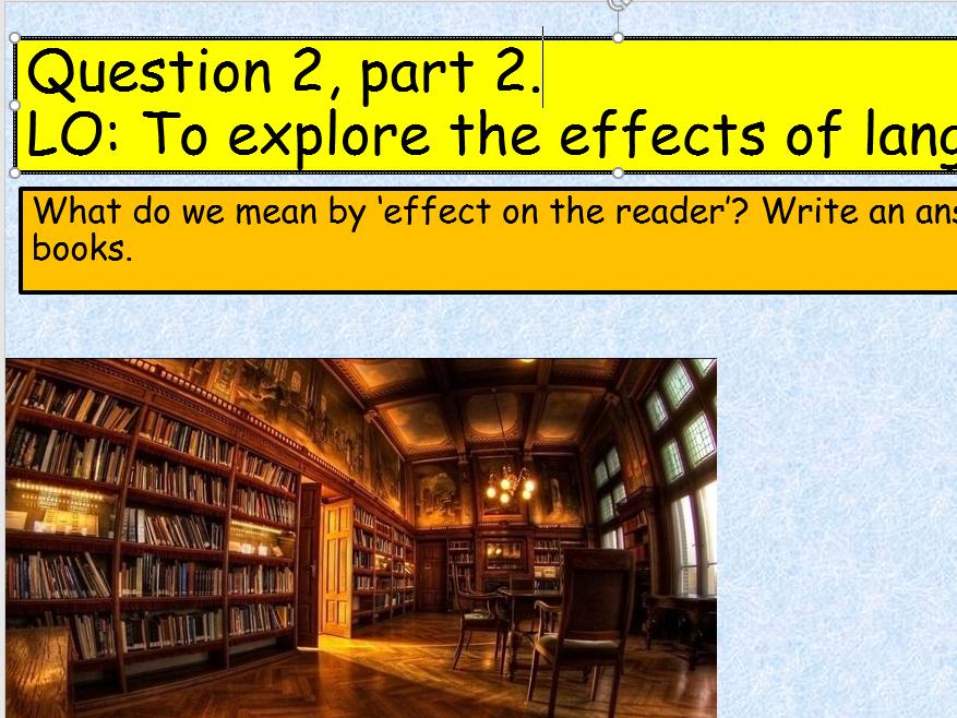 KS3 English Language Paper 1, Question 2 Practice