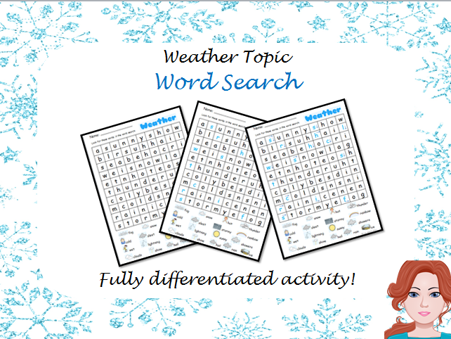 Weather - Word Search (Differentiated)