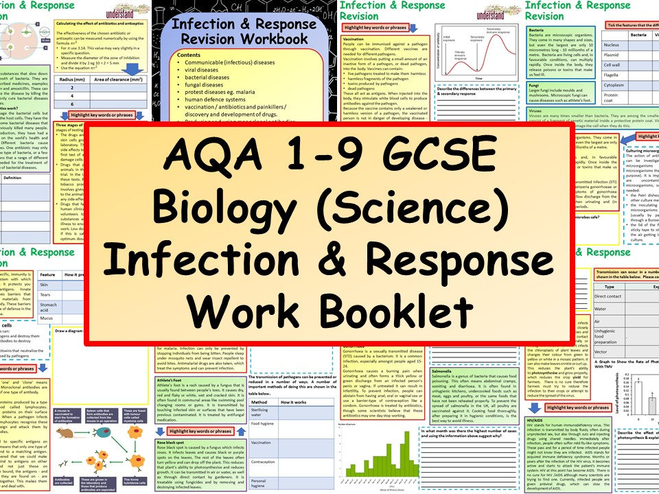 AQA 1-9 GCSE Biology (Science) Infection & Response Work Booklet
