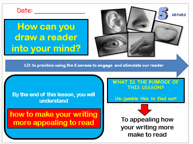 Paragraphing Skills - Using the 5 Senses