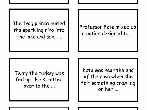 Story Starters - third person - writing