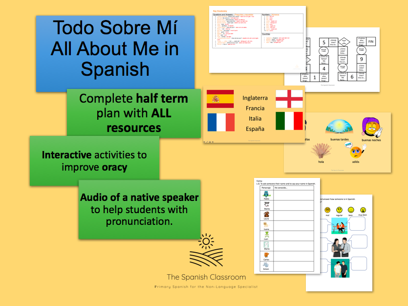 Todo Sobre Mí All About Me Spanish Half Term Plan