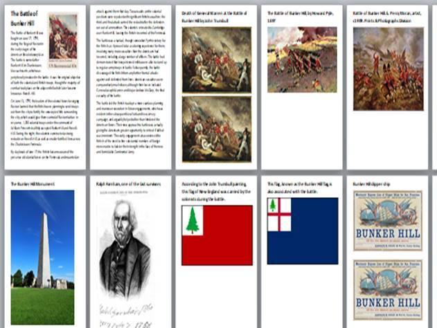 American Revolutionary War Battles Handout Pack
