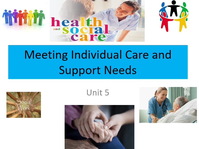 Health&Social Care(New Spec): Unit 5 Meeting Individual Needs-Bundle