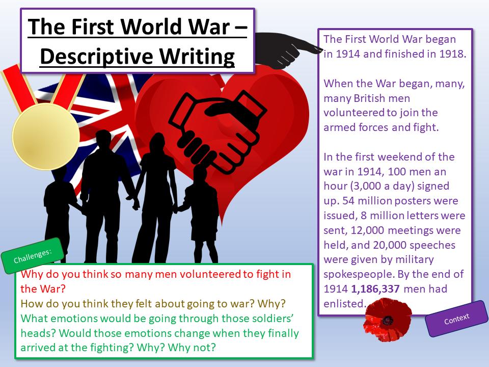 Remembrance Day - Remembrance Day Descriptive Writing