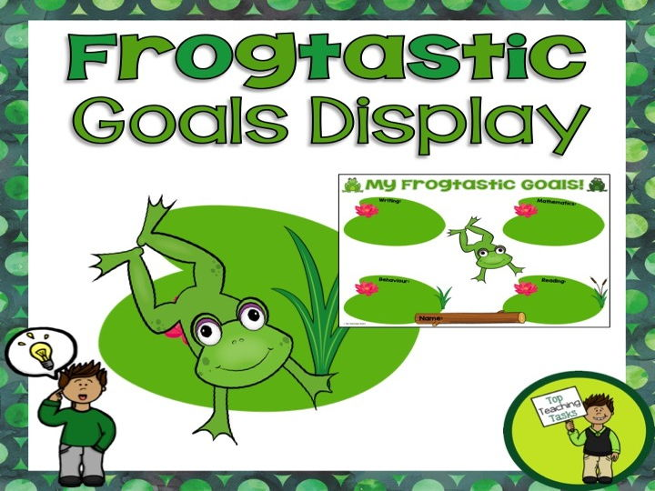 Frogtastic Student Goal Display - Frog Themed