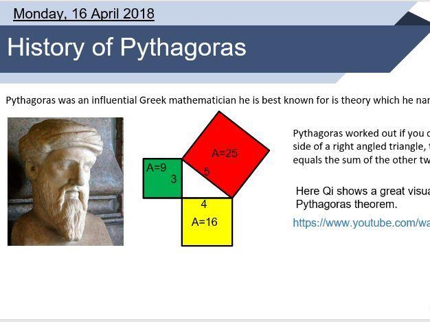 Pythagoras theorem lesson