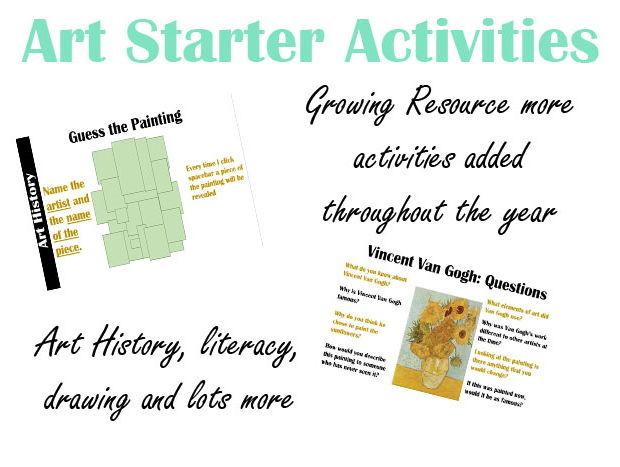 Art Starter Activities/Bell Ringers Growing Resource