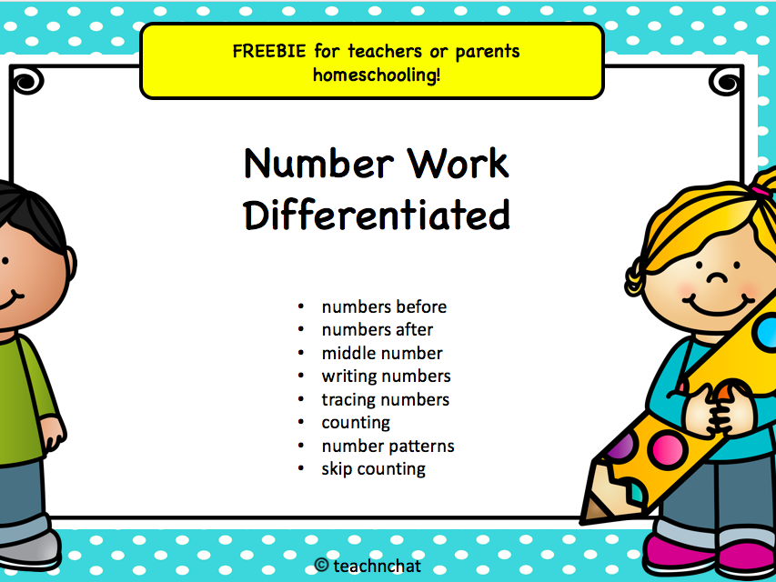 FREEBIE Number work pack for homeschooling!