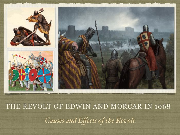 GCSE History Revolt of Edwin and Morcar in 1068