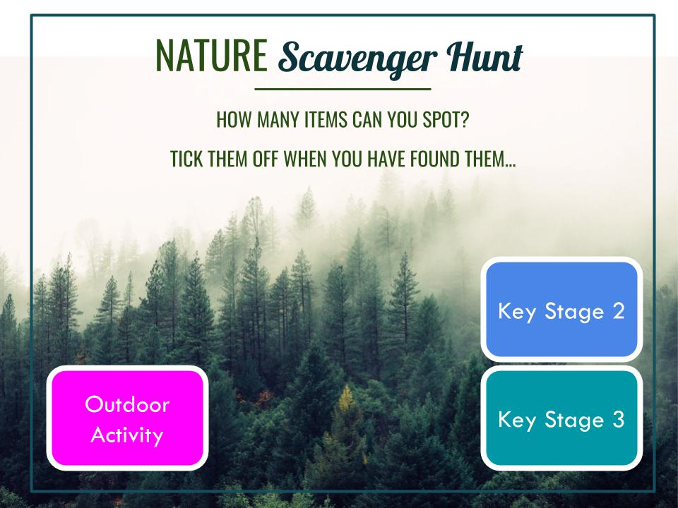 Nature Scavenger Hunt - School Lockdown Activity (Outdoor Learning)