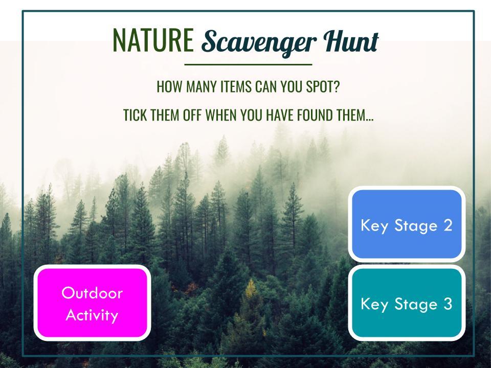 Nature Scavenger Hunt - School Lockdown Activity (Outdoor Learning)