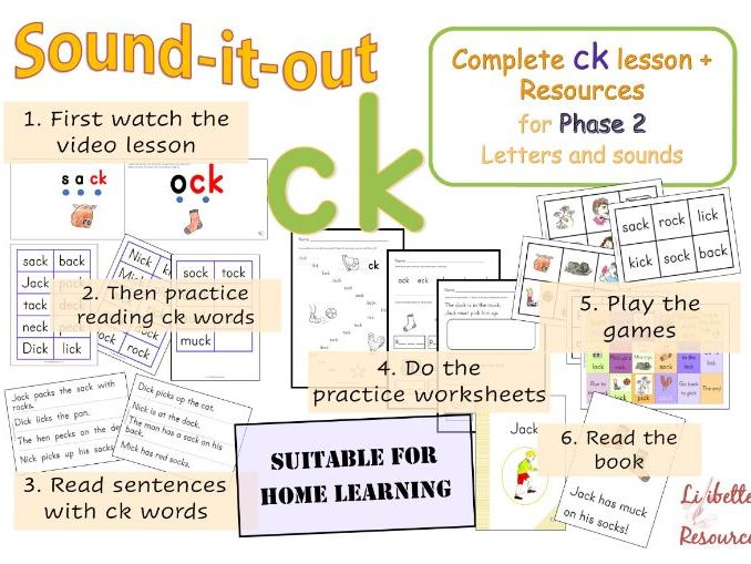 Complete ck lesson for Phase 2 Letters and Sounds