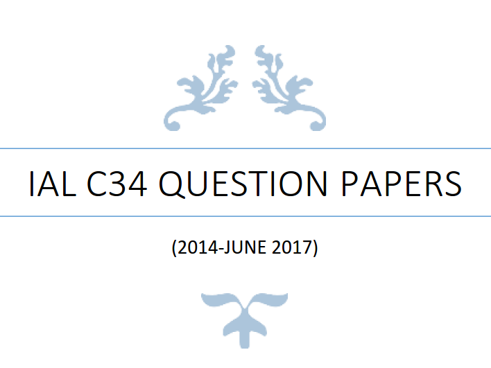 IAL C34 Math Question Papers (2014-June 2017) - without writing space