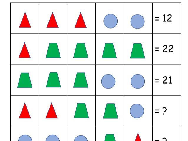 Simultaneous Shapes Puzzle (3 levels)