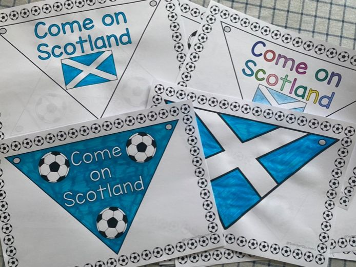 Scotland bunting Euro 2021