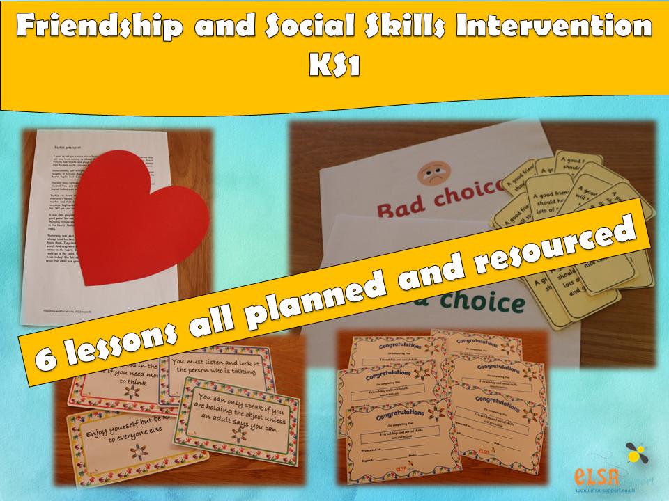 ELSA SUPPORT - Friendship and Social Skills KS1 Intervention, EMOTIONS,