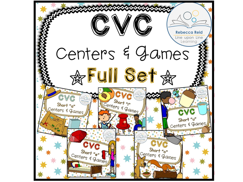 CVC Short Vowel Centers and Games