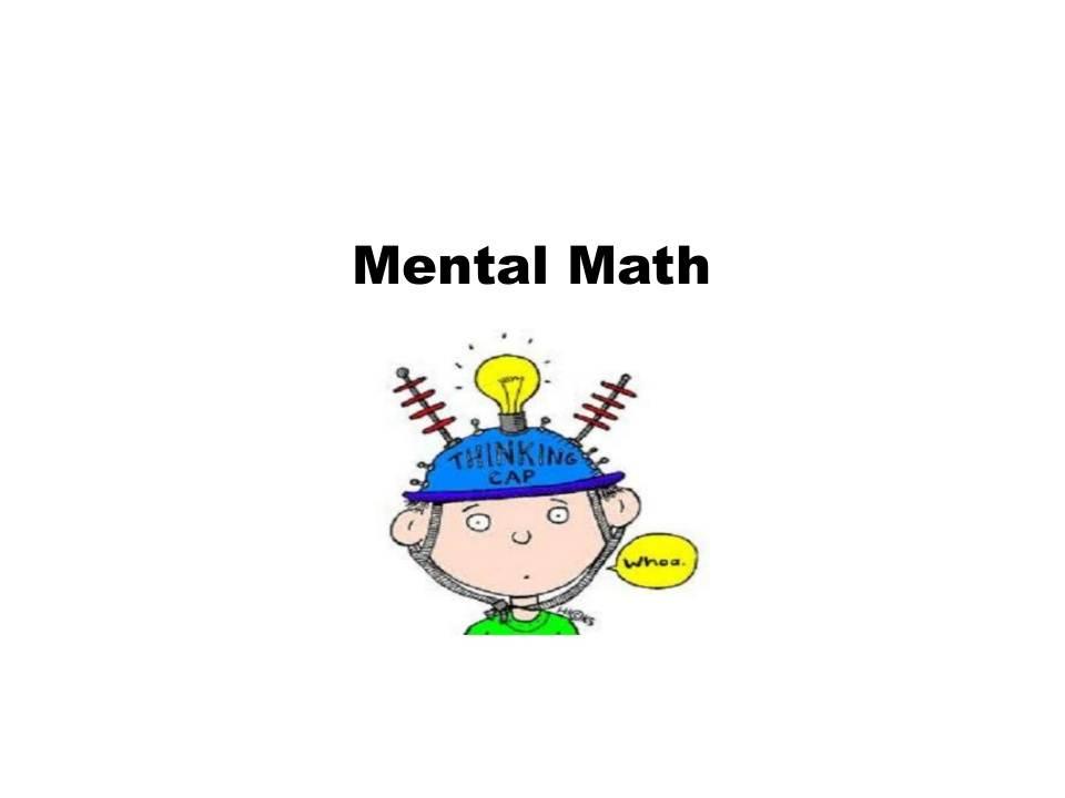 Mental Math Worksheet - 3