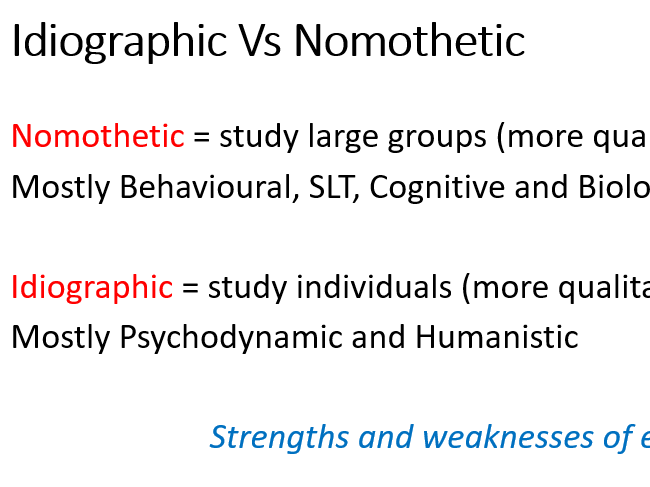 AQA A Level Psychology Approaches: Comparison of Approaches