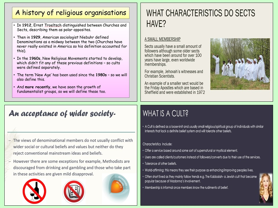 AQA A-Level Sociology - Religious Organisations - Beliefs in Society Topic
