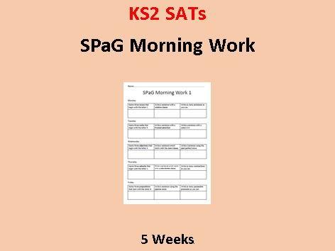 SPaG Morning Work (5 Weeks)