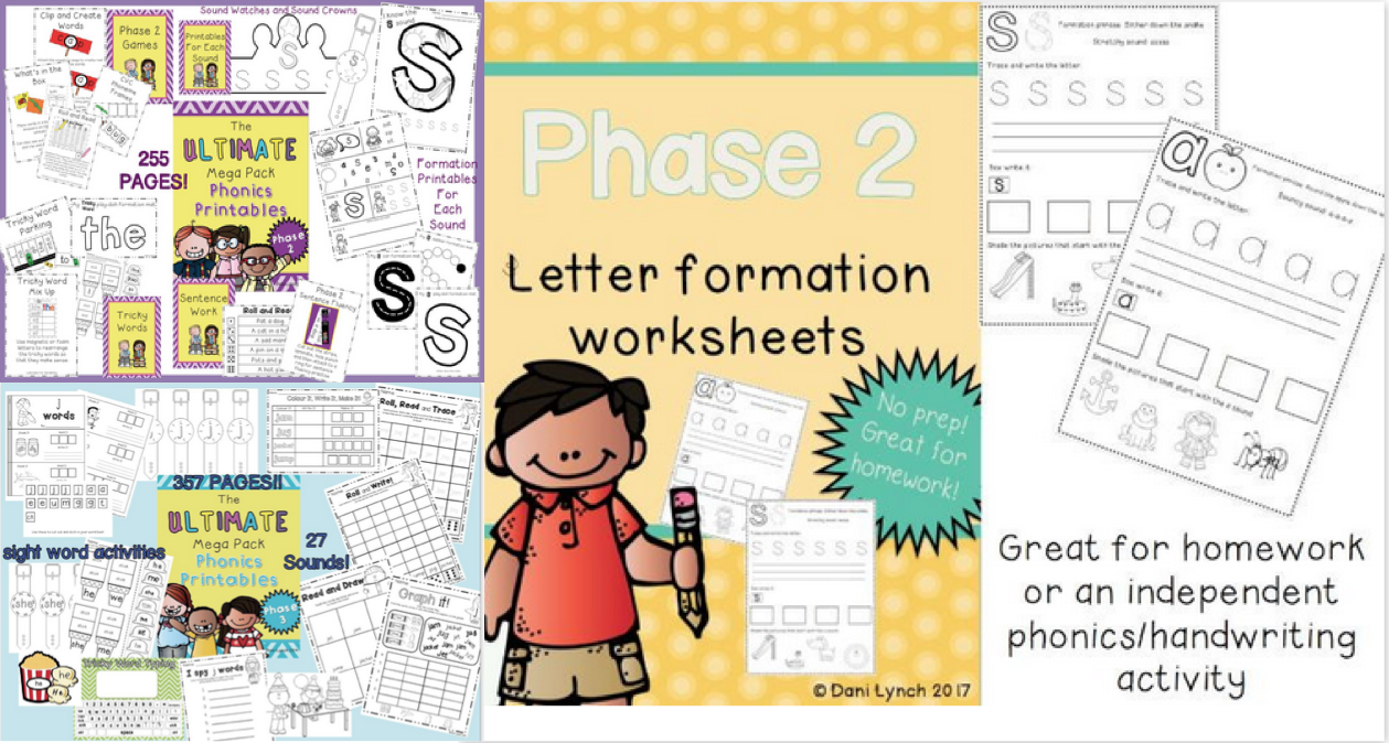 Phase 2 & 3 Phonics Bundle