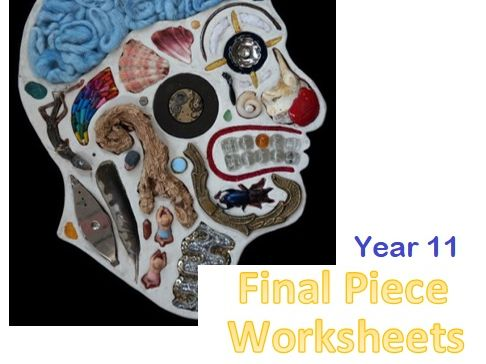 3 Final Piece worksheets for Year 11 Art