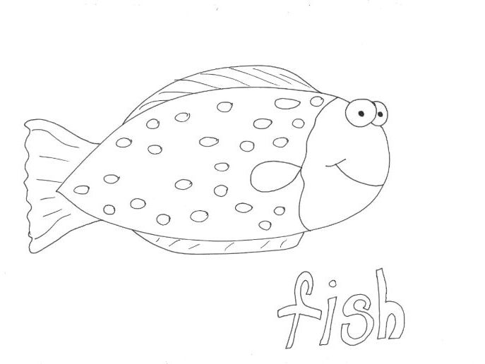 Fish (1): Animals and Pets: Colouring Page