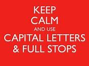 Caplital Letters and Full Stops