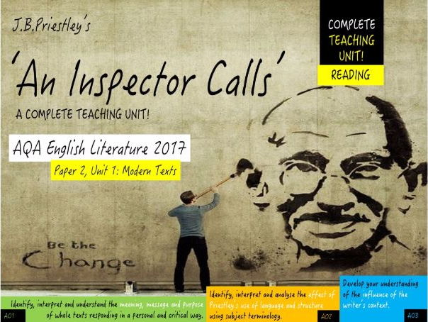 An Inspector Calls, Reading Unit (Full Play) - NEW GCSE English Literature  (3 - 4 weeks Teaching)