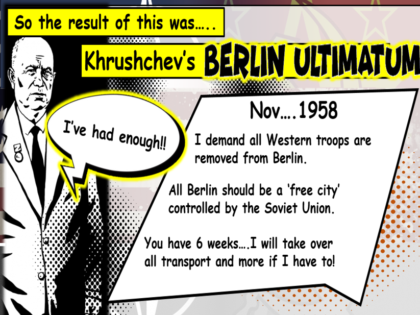 GCSE History Edexcel: Cold War and S. Relations - Khrushchev's Berlin Ultimatum (Lesson 10)