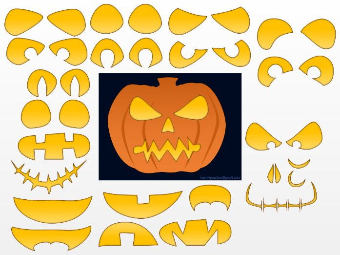 Create your own pumpkin face - Halloween and Autumn Harvest